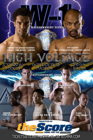W1: HIGH VOLTAGE will feature THE RONIN vs. MR. INTERNATIONAL Oct 10
